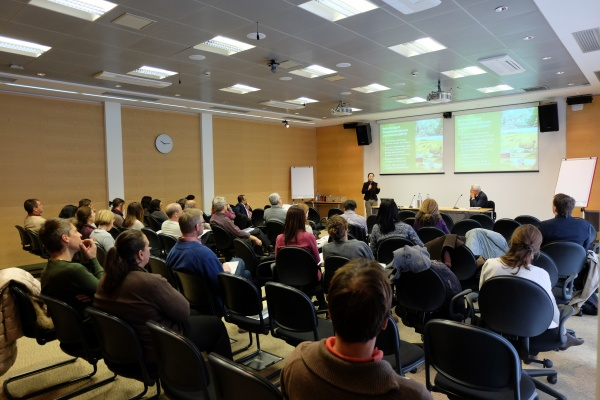 UNU's Kaoru Ichikawa speaks to a full house at the seminar.
