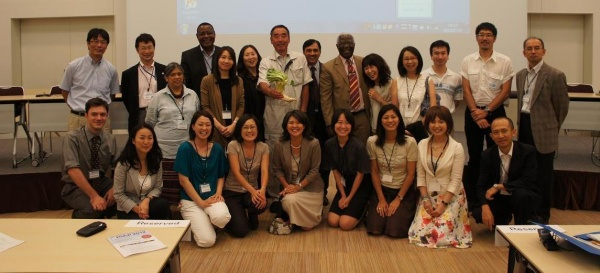 Speakers, audience members and Secretariat staff (current and alumni!) gather in Yokohama on 24 July 2012