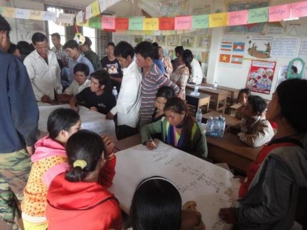 Photos 11-12 Workshops on agro-biodiversity in Kamppong Cham and Mondulkiri