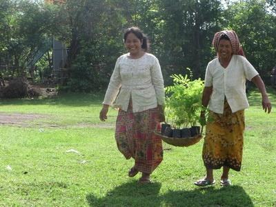 Photo 9 Many women attending reforestation activity
