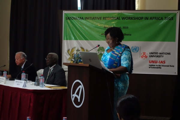 The Hon. Dr. Bernice Heloo, Deputy Minister for Environment, Science, Technology and Innovation (MESTI) of Ghana