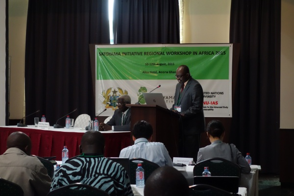 Dr. Daniel Pelle of the Forestry Commission of Ghana