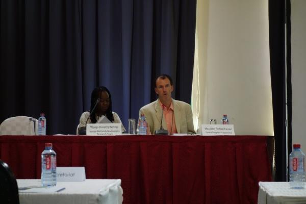 Discussion moderators Dr. Wanja Dorothy Nyingi and Dr. Maurizio Farhan Ferrari