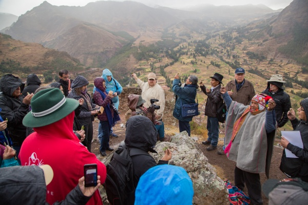 The opening ceremony at the Pisac Archaeological Park