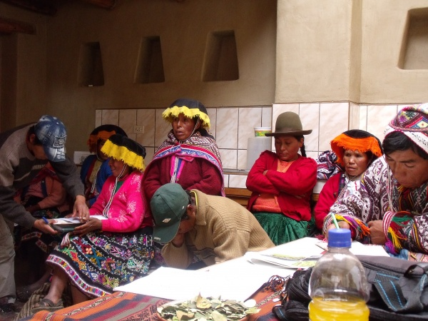 Photo 4: Women participating in the Workshop at the Potato Park