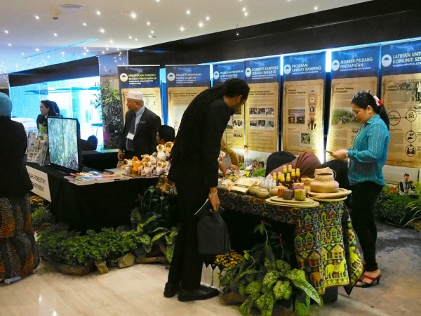 Participants had a chance to see and shop for local goods and handicrafts in the exhibition space