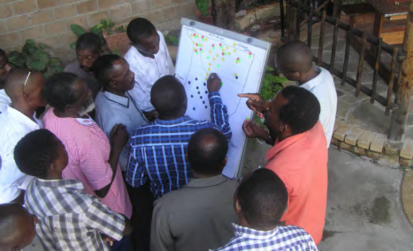 Mapping exercise during the landscape strategy development, COMDEKS Namibia