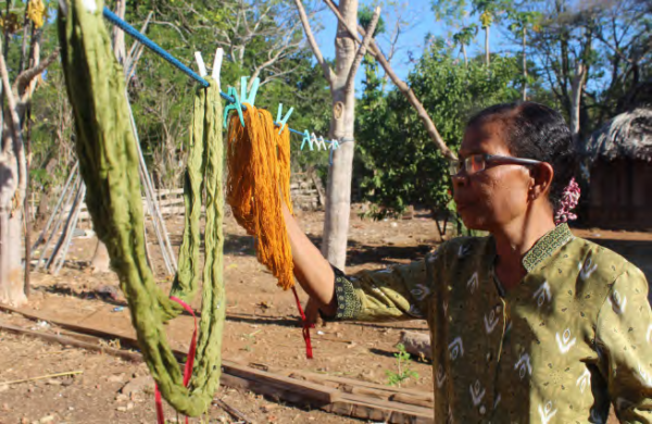 Yarn dyed with natural colors, COMDEKS Indonesia