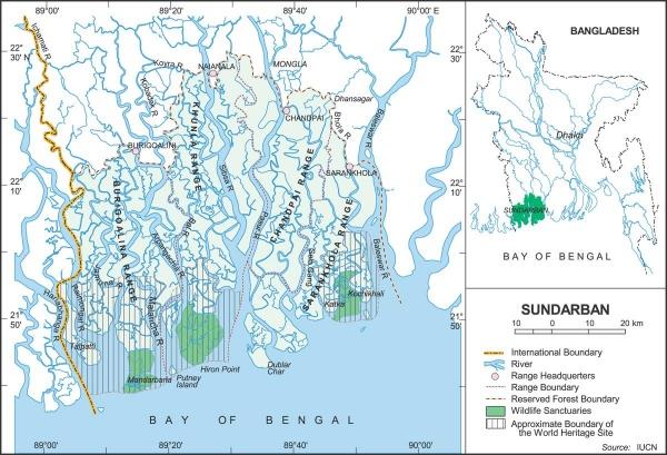 Figure 1. Location of the Sundarbans (Source: IUCN, 2014)