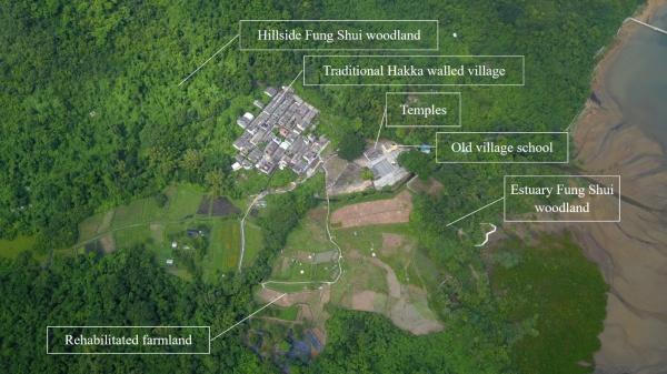 Layout plan of Lai Chi Wo village (© Kin-Ming Lau, modified by PSL)