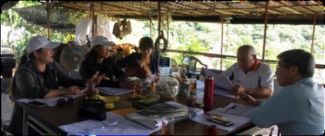 Four local people in the Dipit tribe comprising an 'indicator task group' from October to December 2017