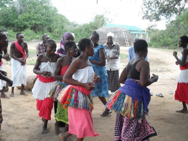 Figure 9. Mijikenda community performing a traditional dance during a cultural festival