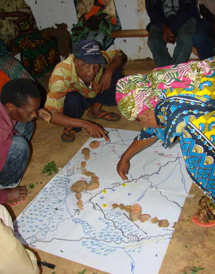 Figure 7. Participants identifying food sources on map