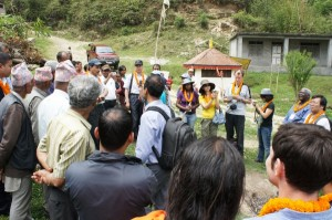 Dr. Krishna Chandra Paudel (Secretary, MoFSC Nepal) guiding an excursion for workshop