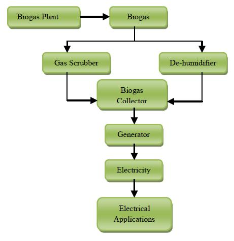 Figure 2: Waste to electricity biogas plant