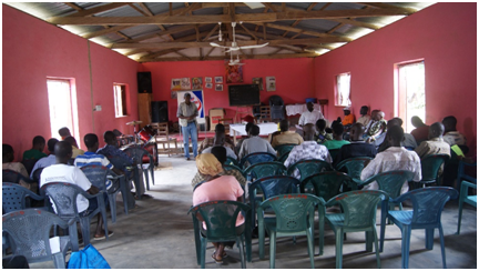 Figure 4 Education and Sensitization at Aboabo Camp
