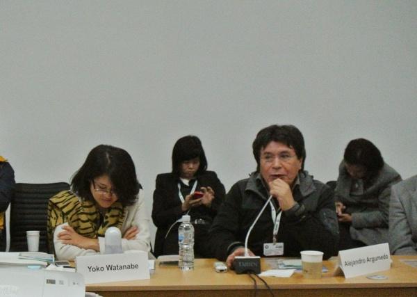 Mr. Alejandro Argumedo of Asociacion ANDES
