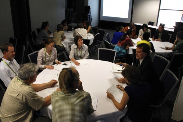 Event participants engage in practical use of the tools