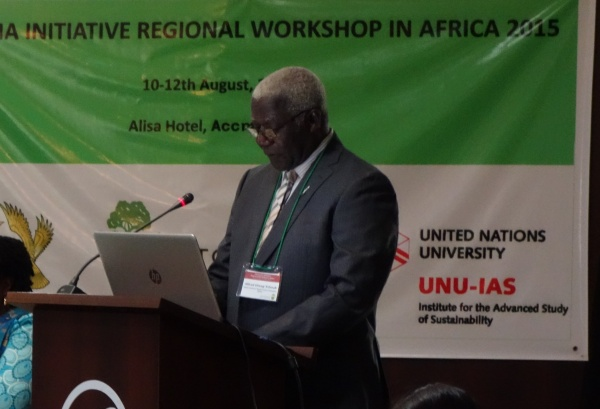 Workshop Chair Prof. Alfred Oteng-Yeboah of the Ghana National Biodiversity Committee