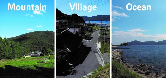 Mountain Village Ocean