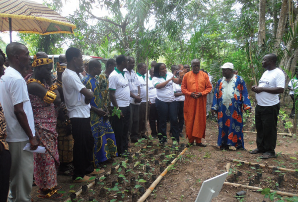 Local authorities and COMDEKS grantees visit nursery site, COMDEKS Ghana