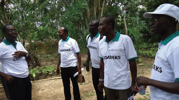 SGP National Coordinator visits grantees to monitor their project, COMDEKS Ghana