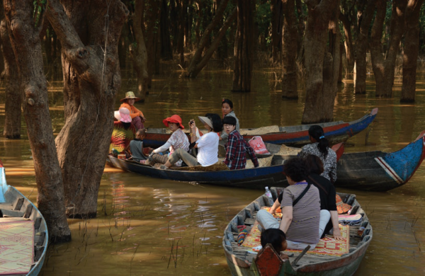 Tourists visiting Kampong Phluk floating community in Siem Reap province., COMDEKS Cambodia