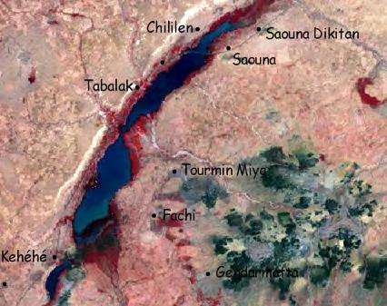 Figure Ni-1. Satellite Image of Lake Tabalak (GRN study, 2009)
