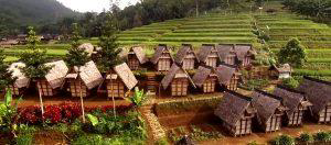 Figure 2: Granaries containing rice stockpile of Ciptagelar community (West Java Tourism Board, 2015)
