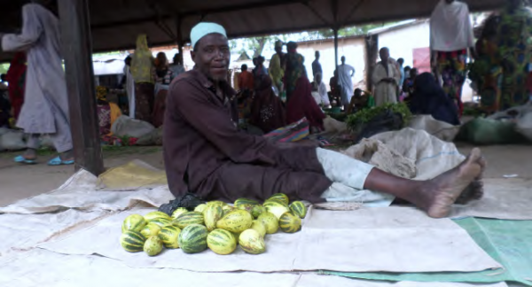 Vegetable trader at the Bogo Market, COMDEKS Cameroon