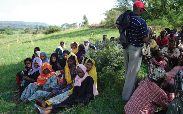 During the community consultation separate groups of women and men ensure both perspectives are heard, COMDEKS Ethiopia