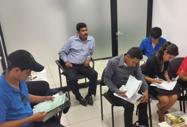 Capacity building workshop for the Youth Monitoring Team, COMDEKS El Salvador