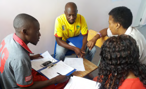 Uuvuudhiya Agriculture Youth Project (UAYP) members receiving financial management training, COMDEKS Namibia