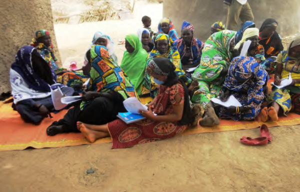 Women of Moungoussi during community consultations, COMDEKS Cameroon