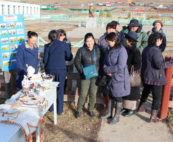 Local CBO members explore new avenues for marketing their products, COMDEKS Mongolia