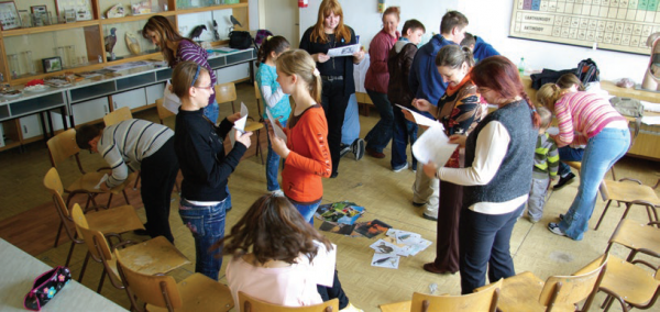 Local youths participating in workshop exercises, COMDEKS Slovakia
