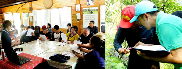 Figure 2. Green Conservation facilitators conducting training in sustainable agriculture for local farmers.