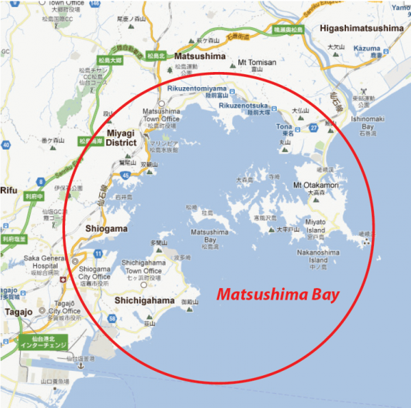 Figure 1. Map of Matsushima Bay (Source: Google Map)