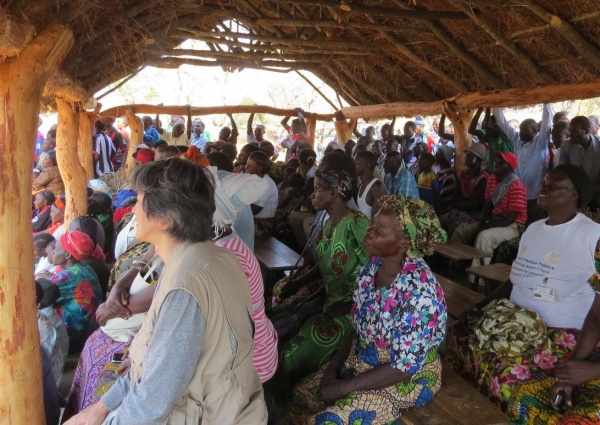Community members gather for the Natural Agriculture Fair