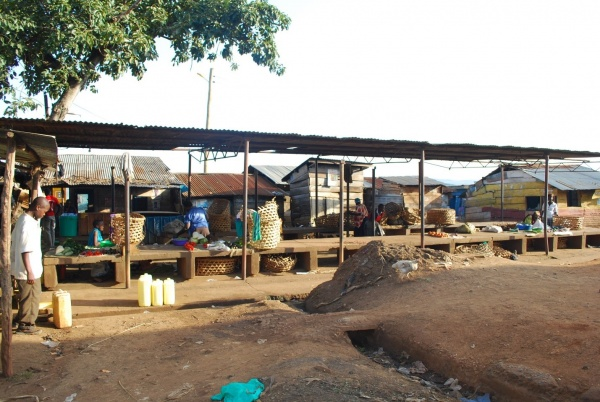 Figure 6. Photo of the fish market at Masese landing site. Decline in native fishery has left traders idle in fish markets (Photo: EPIC 2017)