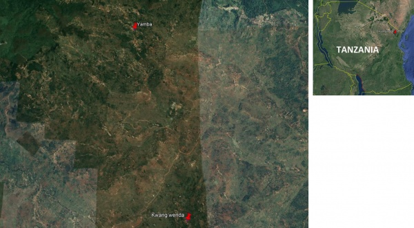 Figure 4. Land use and land cover map of case study site - Tanzania